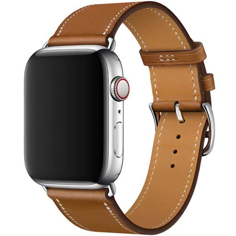 Koženkový Remienok Apple Watch 42/44mm Brown