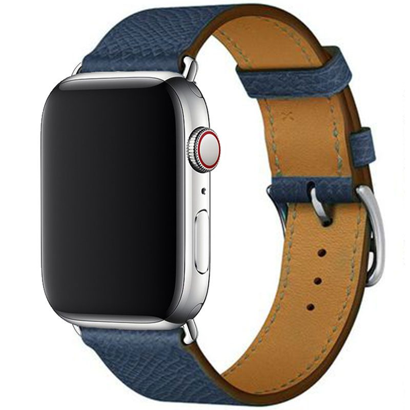Koženkový Remienok Apple Watch 42/44mm Navy