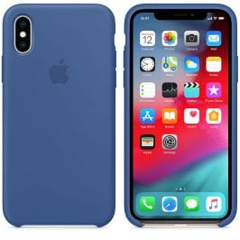 Apple Delft Blue Silicone Kryt iPhone XS