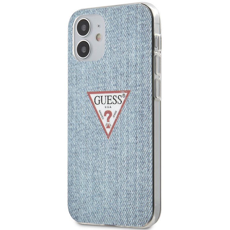 Guess TPU Denim Triangle Blue Kryt iPhone 12 Mini
