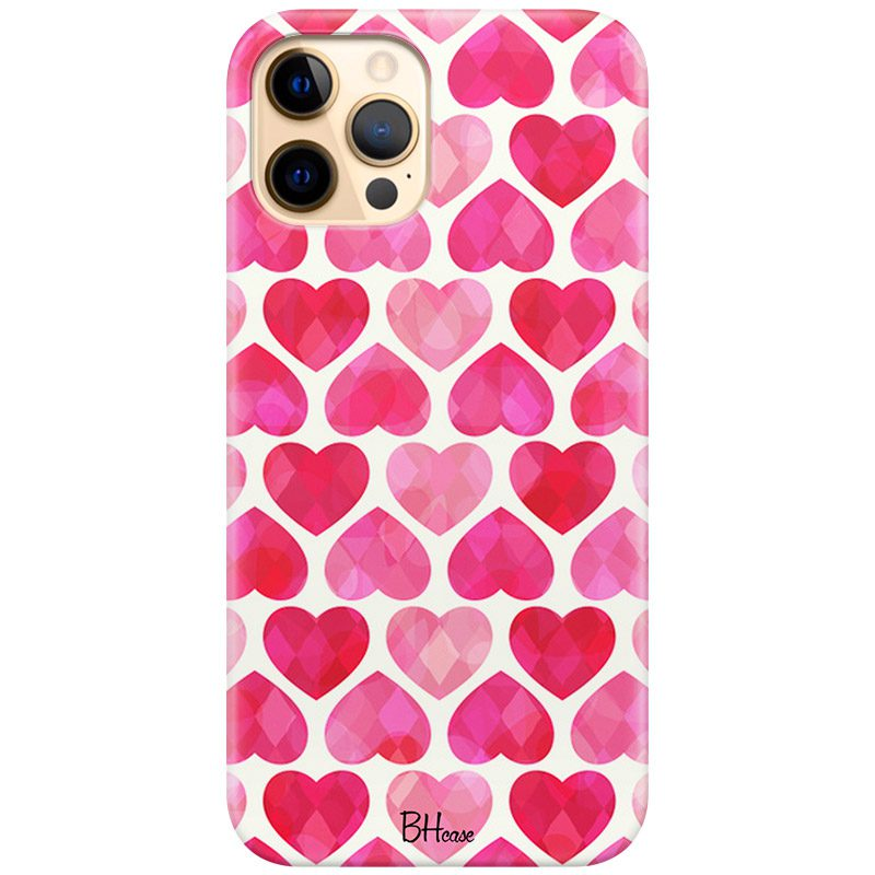 Hearts Pink Kryt iPhone 12 Pro Max