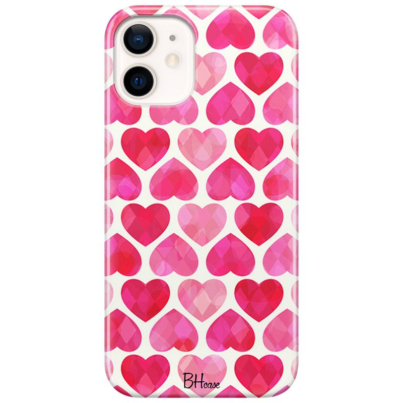 Hearts Pink Kryt iPhone 12/12 Pro