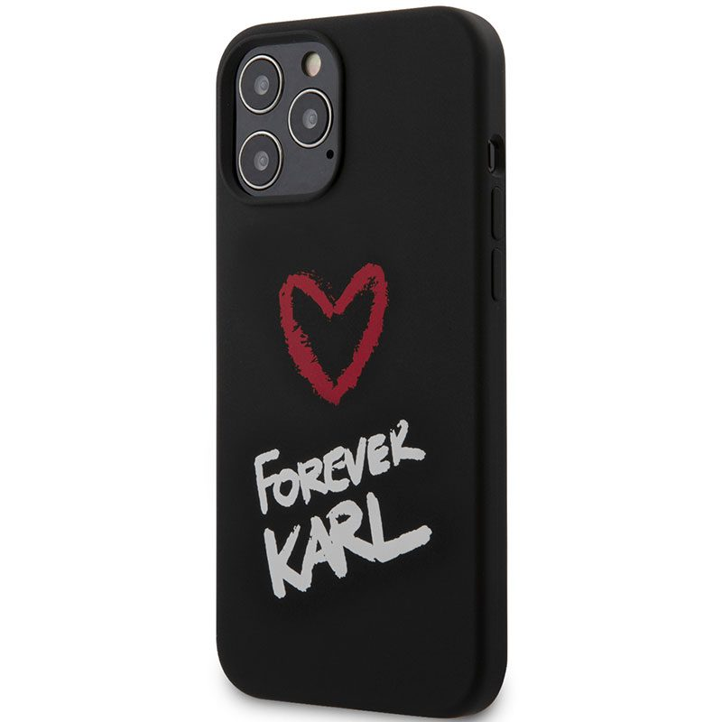 Karl Lagerfeld Silicone Forever Black Kryt iPhone 12/12 Pro