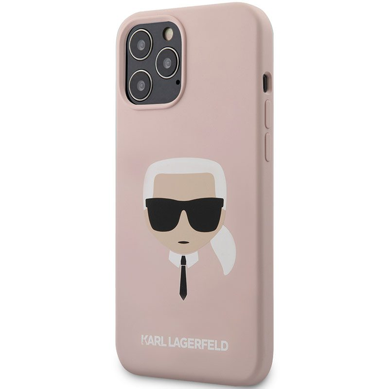 Karl Lagerfeld Silicone Head Light Pink Kryt iPhone 12/12 Pro