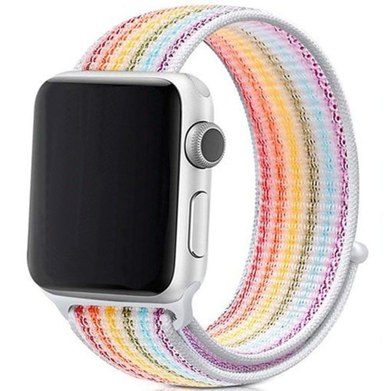 Nylonový Náramok Apple Watch 38/40mm White Rainbow