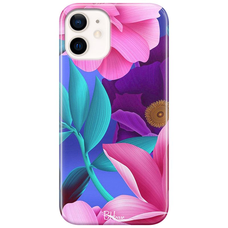 Pinky Floral Kryt iPhone 12/12 Pro