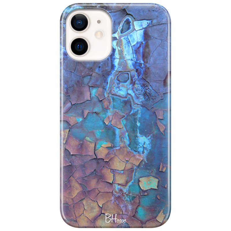Stone Cracked Blue Kryt iPhone 12 Mini