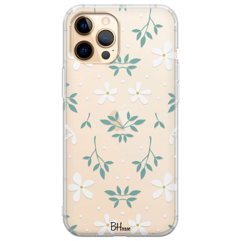White Floral Kryt iPhone 12 Pro Max