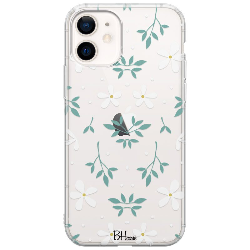 White Floral Kryt iPhone 12 Mini