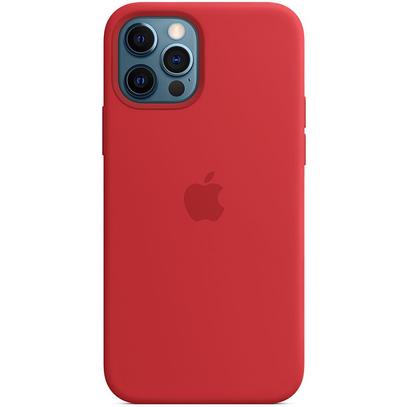 Apple Red Silicone MagSafe Kryt iPhone 12/12 Pro