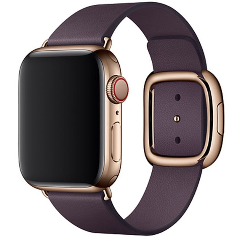 Leather Magnetic Closure Náramok Apple Watch 38/40mm Purple