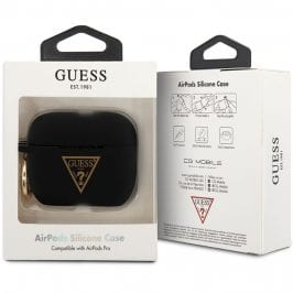 Guess AirPods Pro Silicone Case Triangle Black
