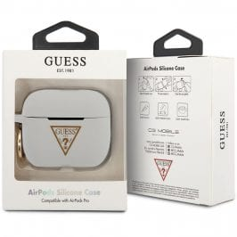 Guess AirPods Pro Silicone Case Triangle White