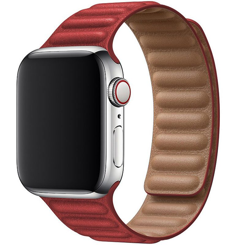 Koženkový Link Náramok Apple Watch 42/44mm Red