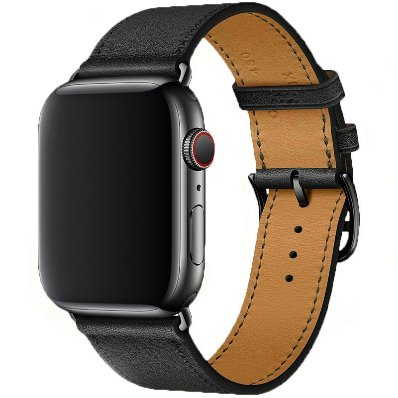 Koženkový Remienok Apple Watch 42/44mm Black