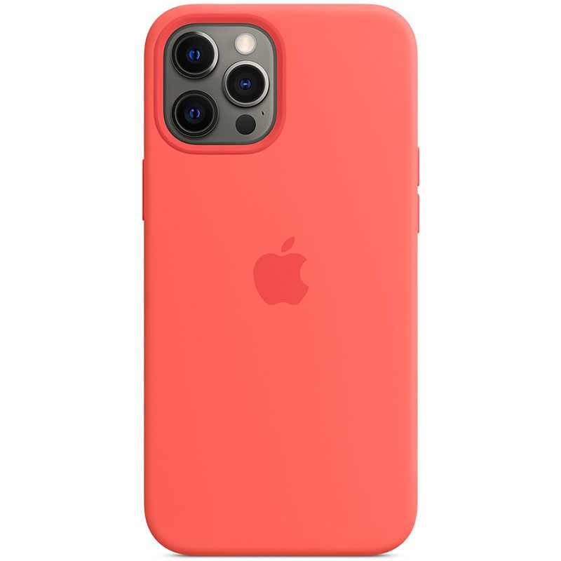 Apple Pink Citrus Silicone MagSafe Kryt iPhone 12 Pro Max