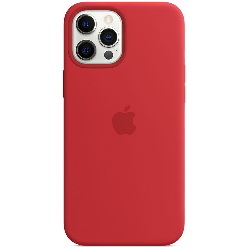 Apple Red Silicone MagSafe Kryt iPhone 12 Pro Max