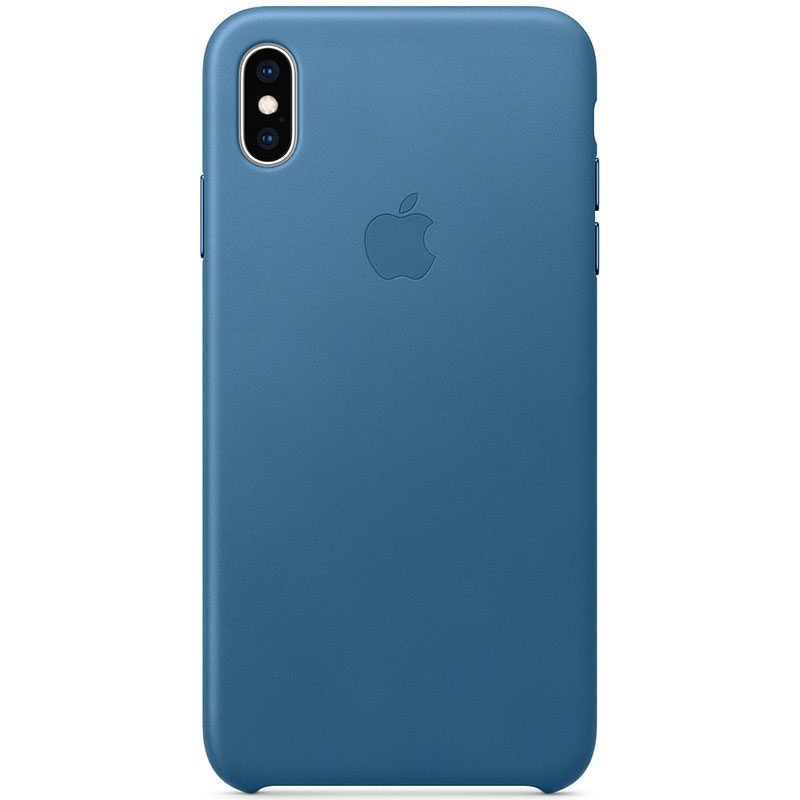Apple Leather Cape Cod Blue Kryt iPhone XS Max