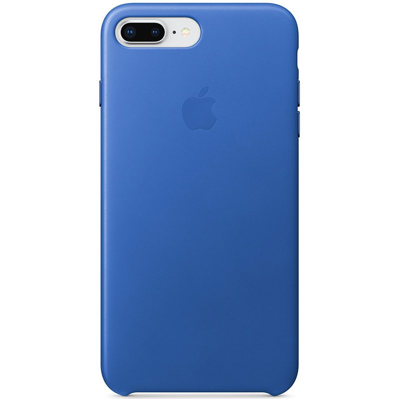 Apple Leather Electric Blue Kryt iPhone 7 Plus/8 Plus