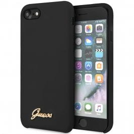 Guess Retro Silicone Black Kryt iPhone 8/7/SE 2 2020