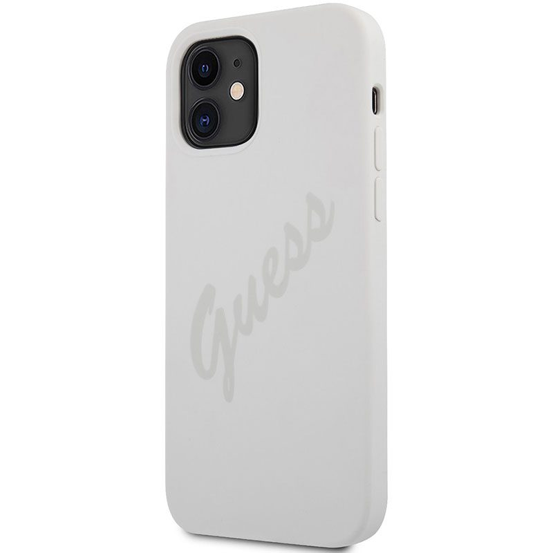 Guess Silicone Vintage Cream Kryt iPhone 12 Mini