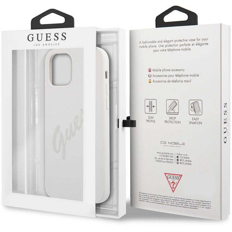 Guess Silicone Vintage Cream Kryt iPhone 12 Pro Max