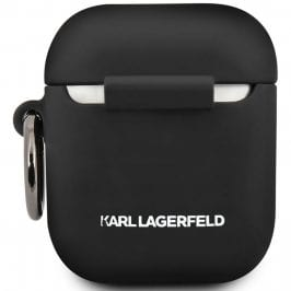 Karl Lagerfeld Choupette Head AirPods Silicone Kryt Black