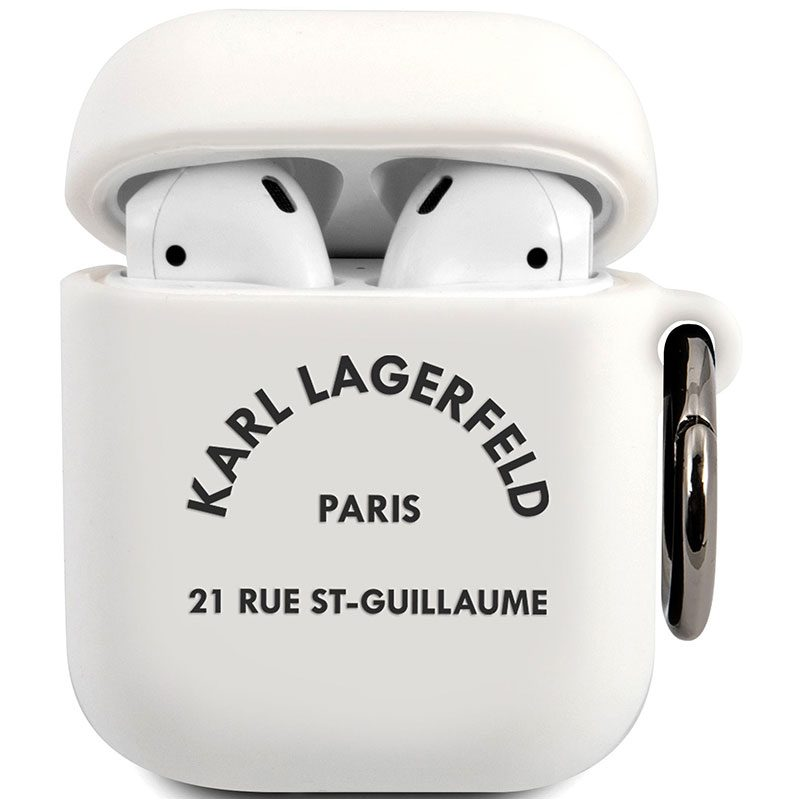 Karl Lagerfeld Rue St Guillaume AirPods Silicone Kryt White