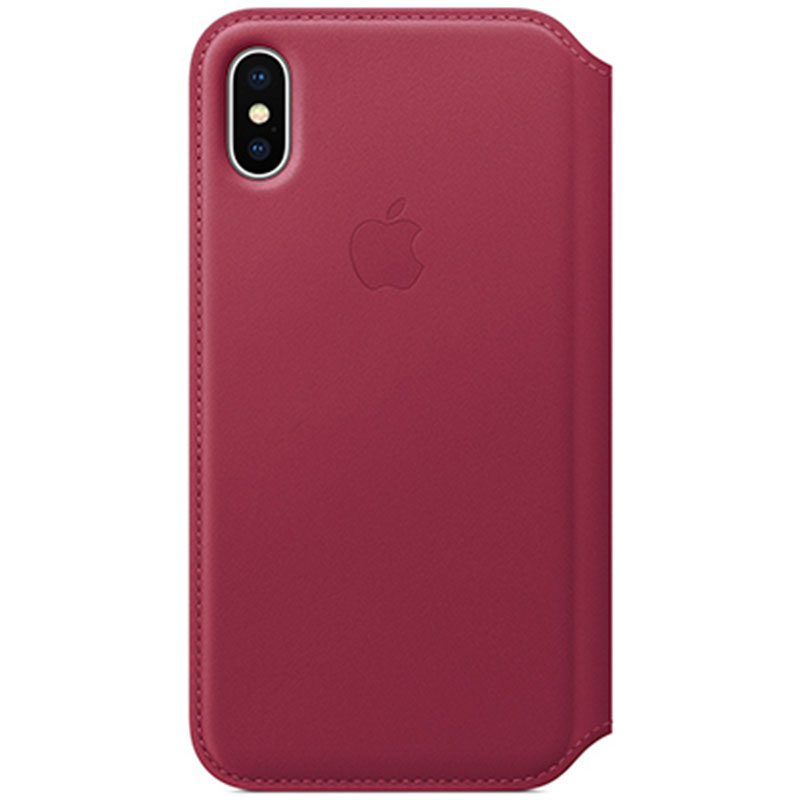 Apple Leather Folio Berry Kryt iPhone X