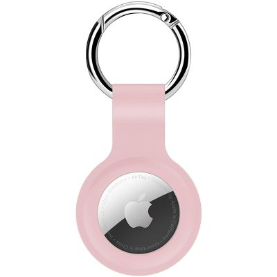 Silicone Key Ring Kryt na AirTag Pink