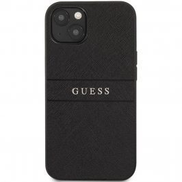 Guess PU Leather Saffiano Black Kryt iPhone 13