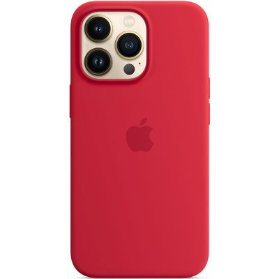 Apple Red Silicone MagSafe Kryt iPhone 13 Pro