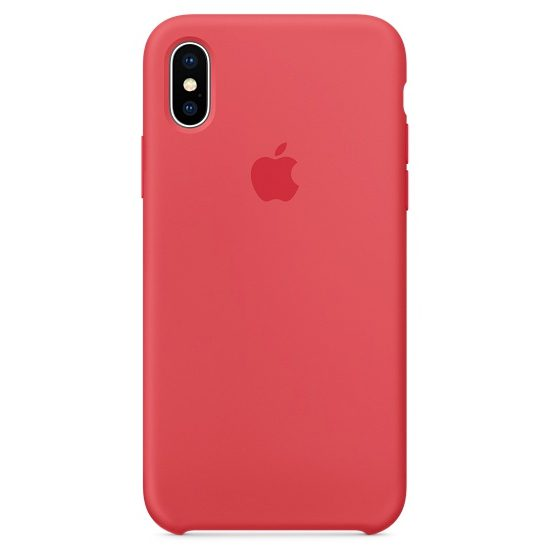 Apple Red Raspberry Silicone Kryt iPhone X
