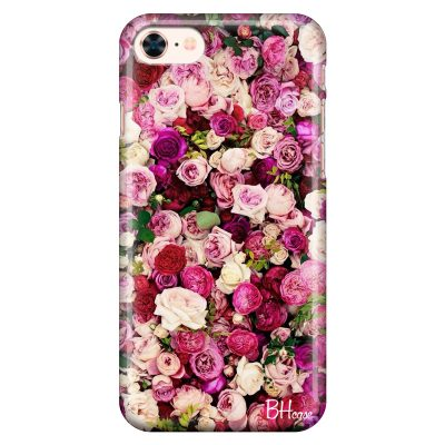 Roses Pink Kryt iPhone 8/7/SE 2 2020