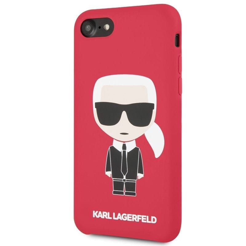 Karl Lagerfeld Iconic Full Body Silicone Red Kryt iPhone 8/7/6/SE 2 2020