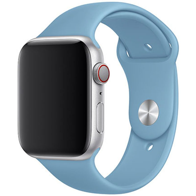 Silikonový Náramek Apple Watch 38/40mm Cornflower Blue Large
