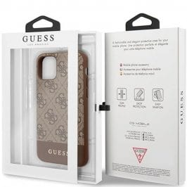 Guess 4G Stripe Brown Kryt iPhone 8/7/SE 2 2020