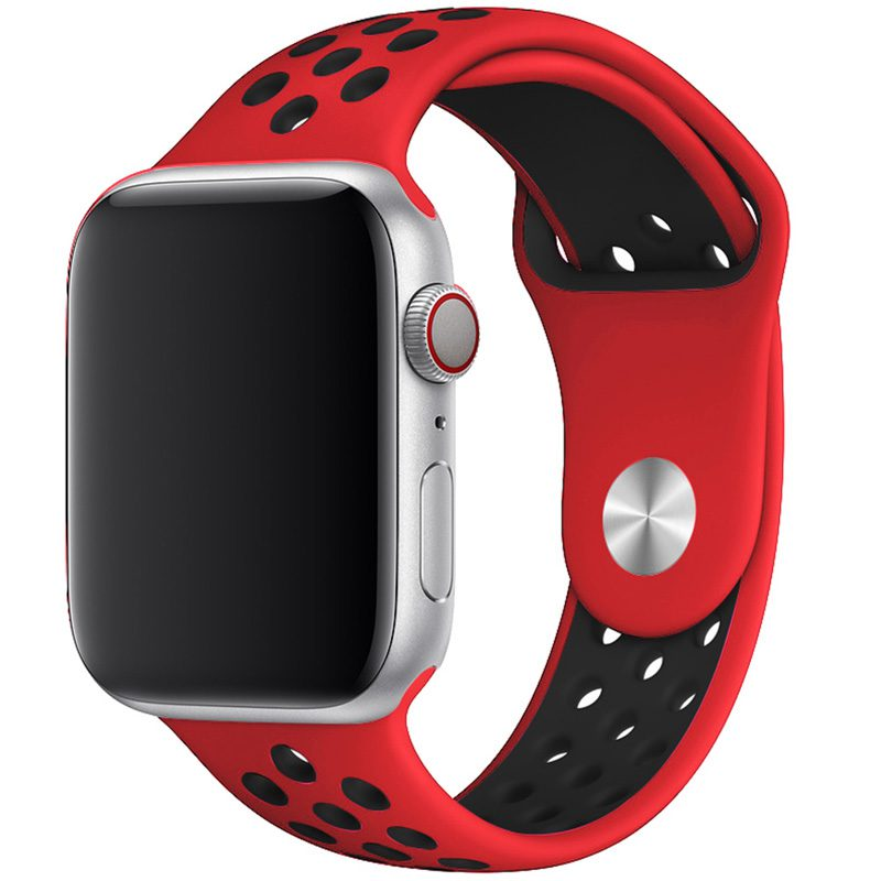Sport Náramek Apple Watch 42/44mm Red/Black Large