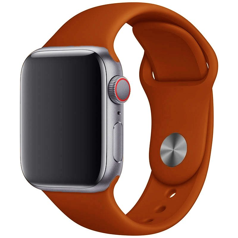 Silikonový Náramek Apple Watch 42/44mm Dark Orange Large