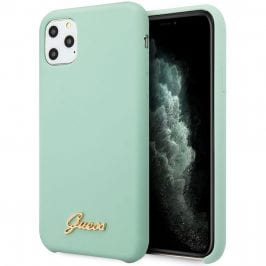 Guess Silicone Vintage Green Kryt iPhone 11 Pro Max