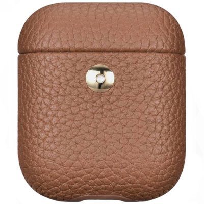 iCarer Hermes Leather Obal AirPods Brown
