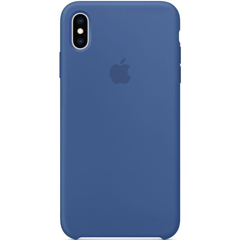 Apple Delf Blue Silicone Kryt iPhone XS Max