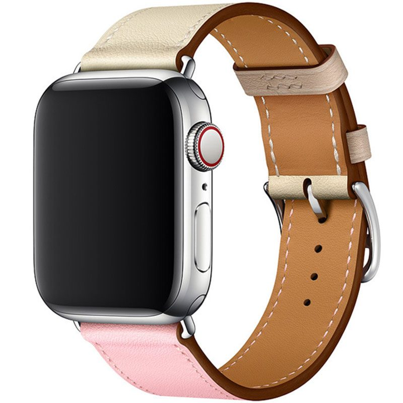 Koženkový Řemínek Apple Watch 42/44mm Rose Sakura Craie