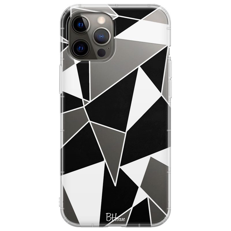 Black White Geometric Kryt iPhone 12 Pro Max