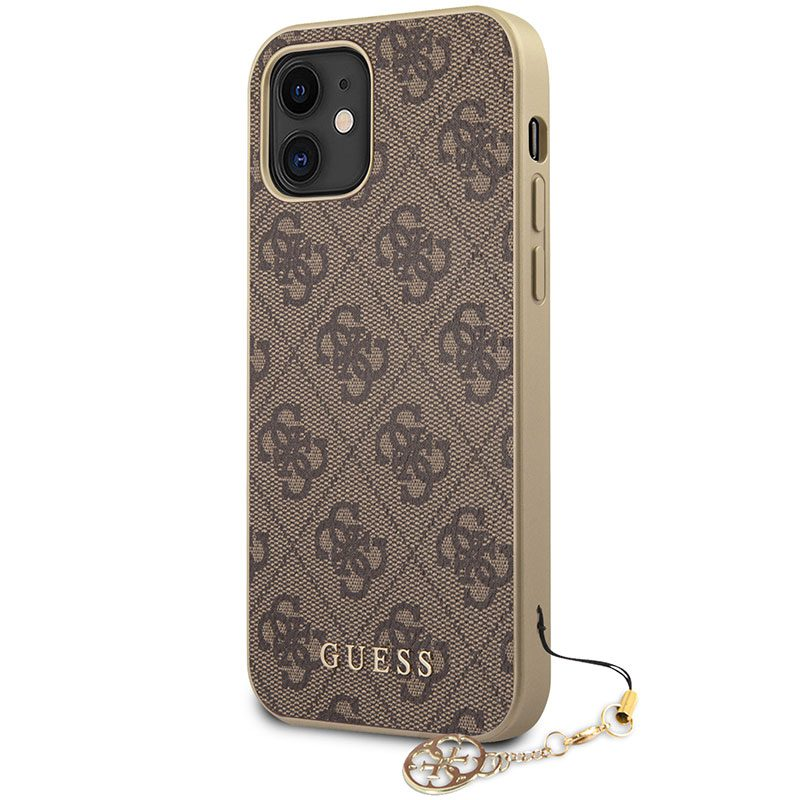 Guess 4G Charms Brown Kryt iPhone 12 Mini