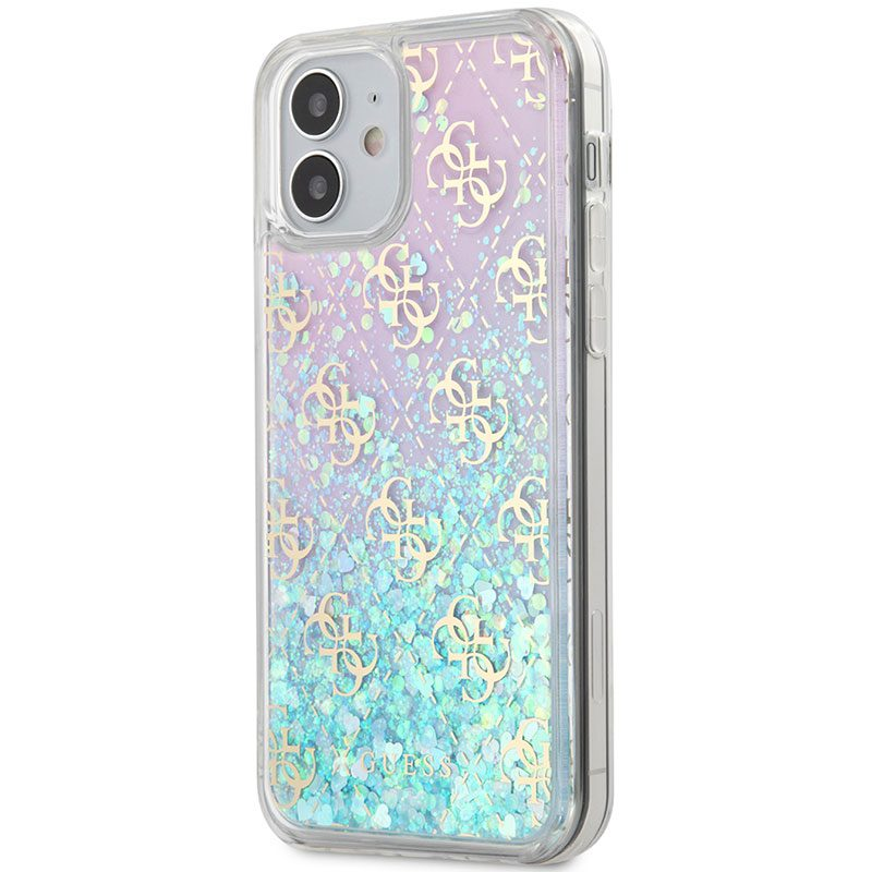 Guess 4G Liquid Glitter Iridescent Kryt iPhone 12 Mini