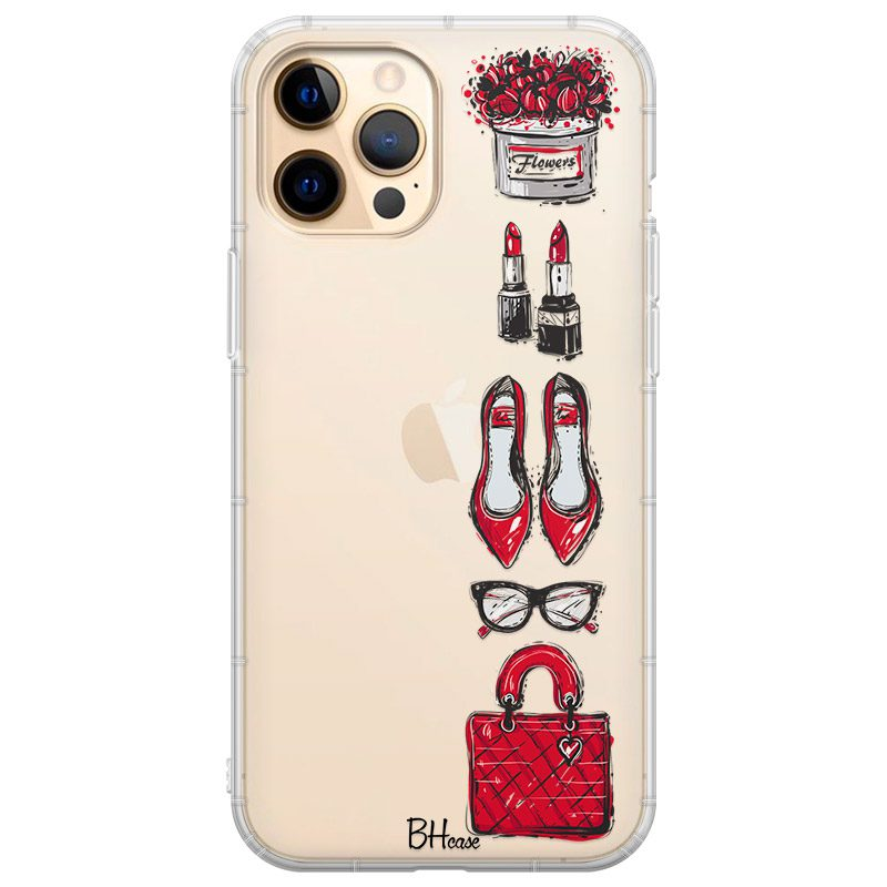 Red Fashion Kryt iPhone 12 Pro Max