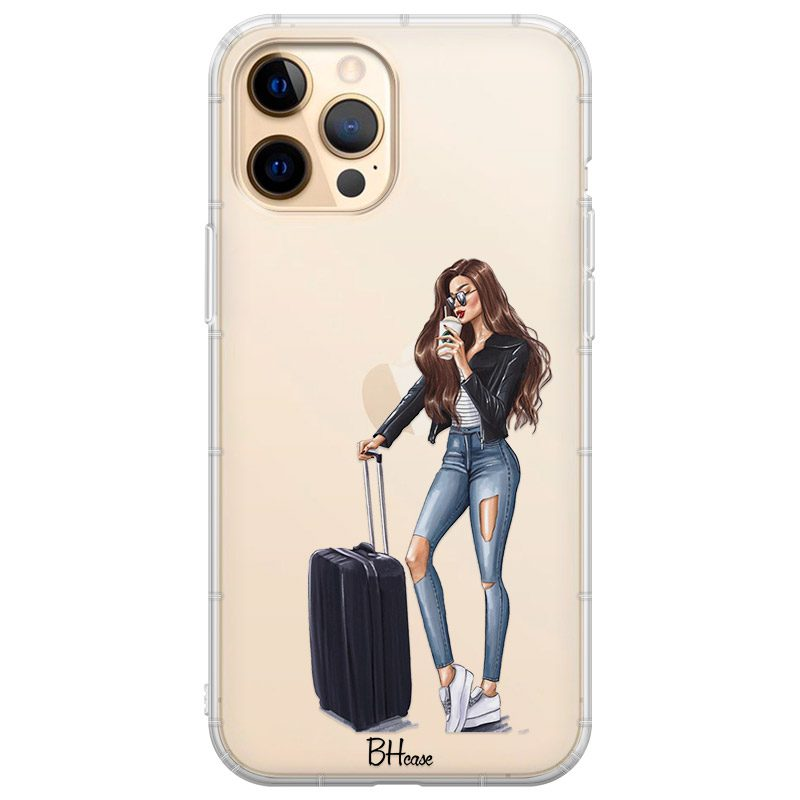 Woman Brunette With Baggage Kryt iPhone 12 Pro Max