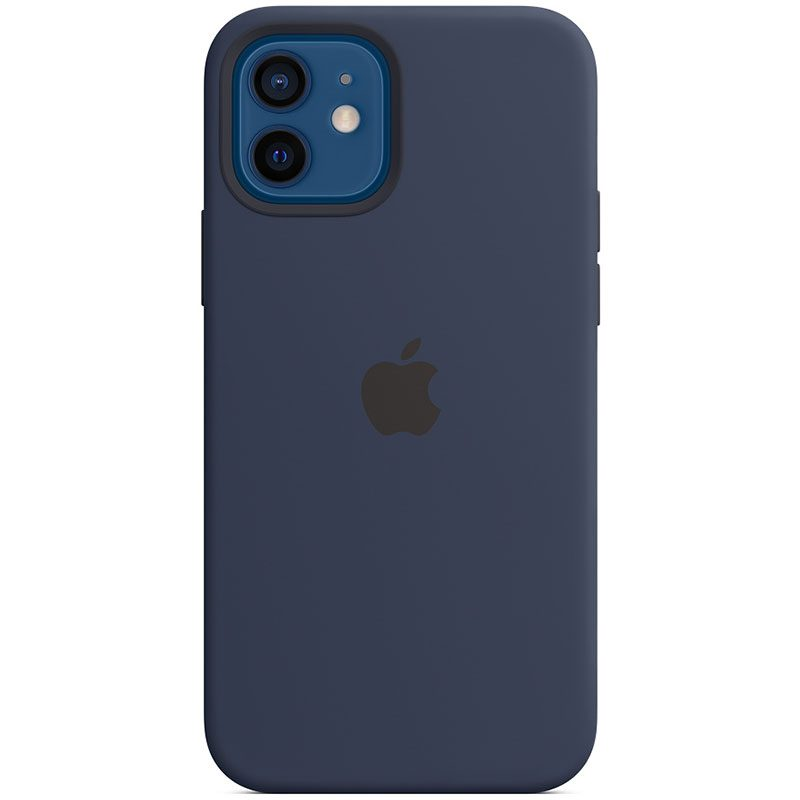 Apple Deep Navy Silicone MagSafe Kryt iPhone 12/12 Pro
