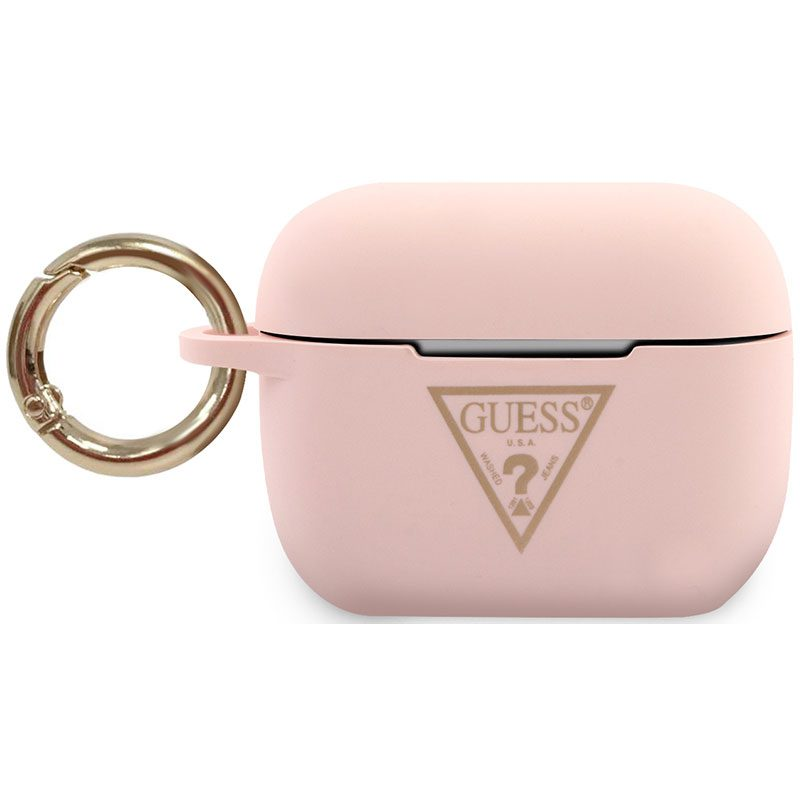 Guess AirPods Pro Silicone Case Triangle Pink